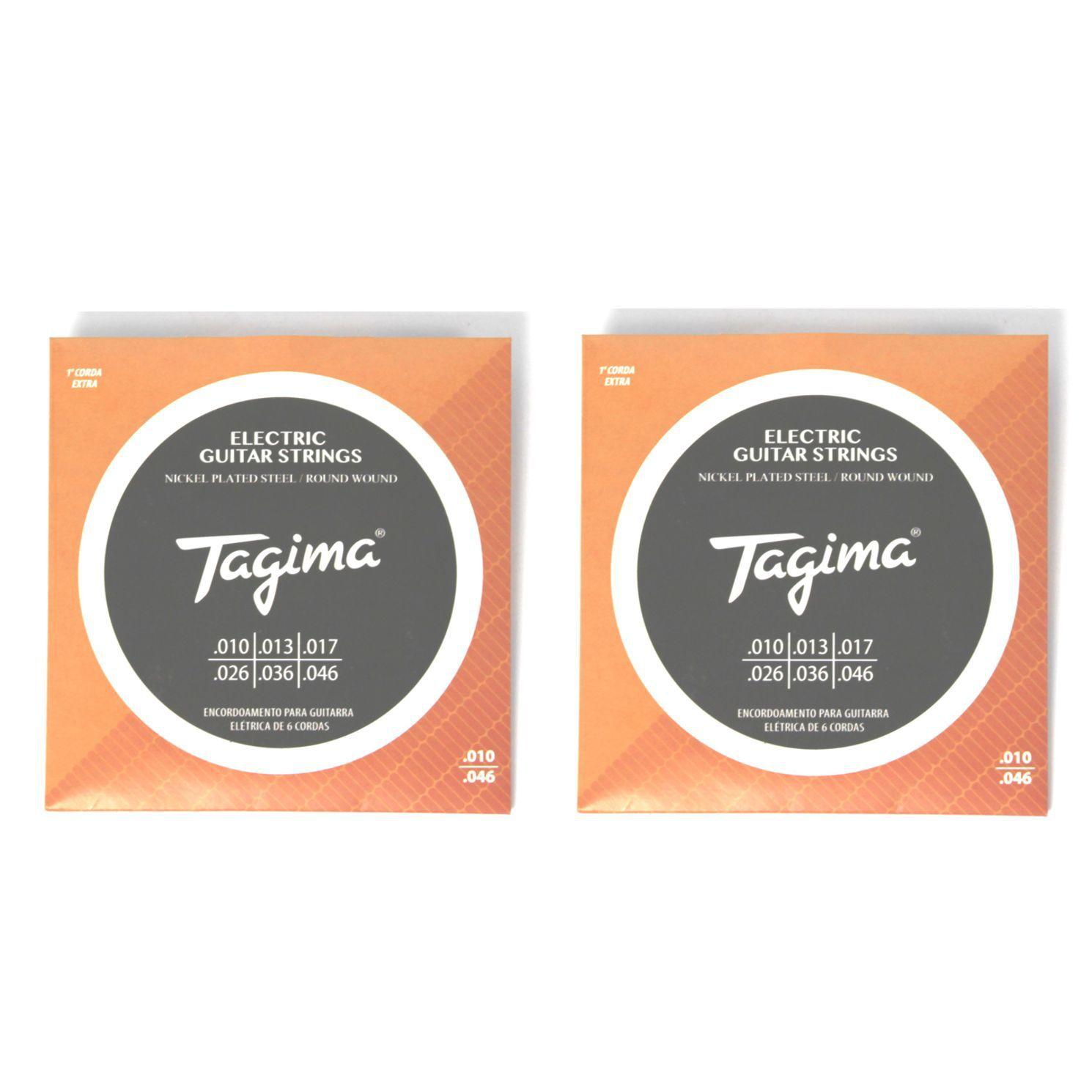 Encordoamento para Guitarra 010 Tagima - TGT-010 - 02 Unidades