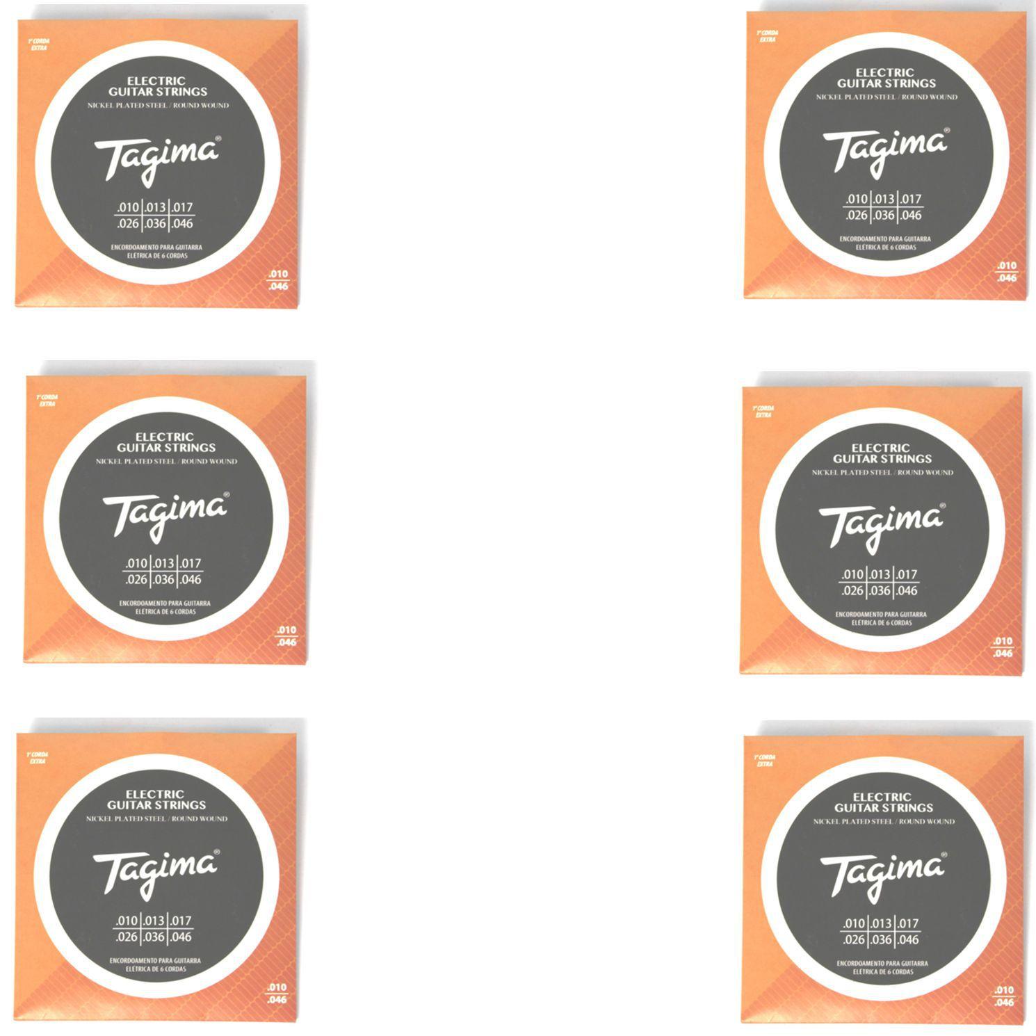 Encordoamento para Guitarra 010 Tagima - TGT-010 - 06 Unidades