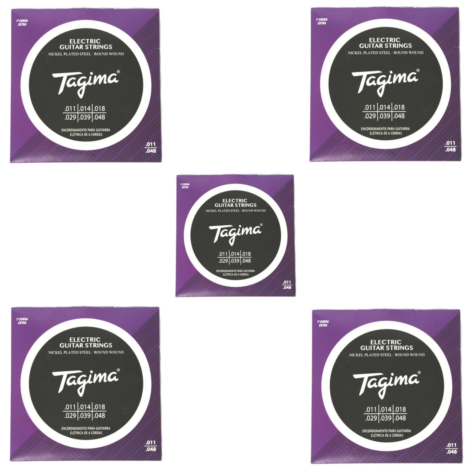 Encordoamento para Guitarra 011 Tagima - TGT-011 - 05 Unidades