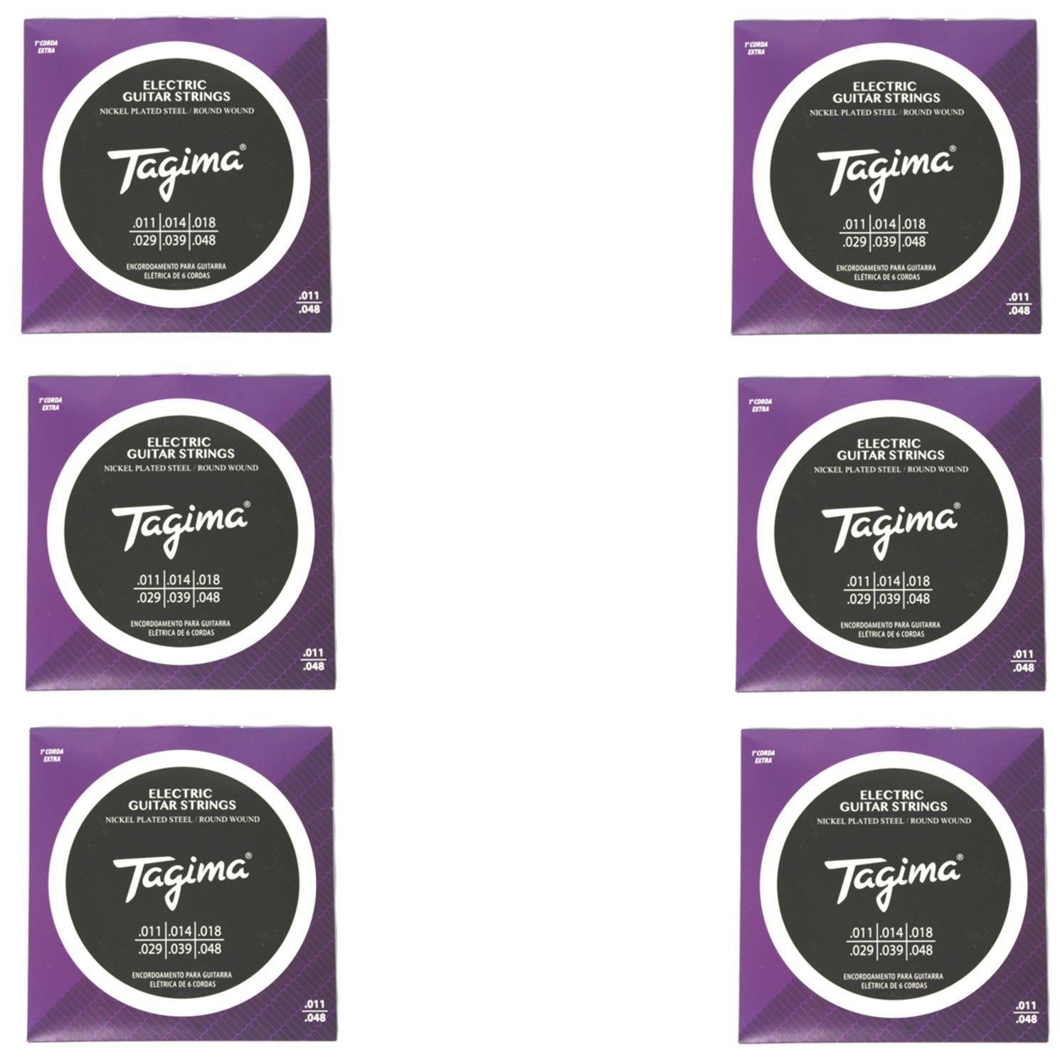 Encordoamento para Guitarra 011 Tagima - TGT-011 - 06 Unidades