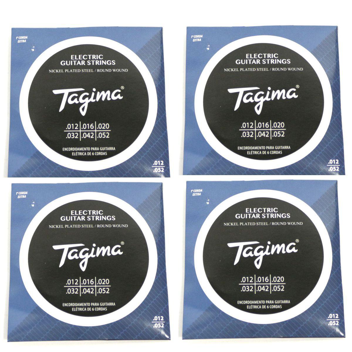 Encordoamento para Guitarra 012 Tagima - TGT-012 - 04 Unidades