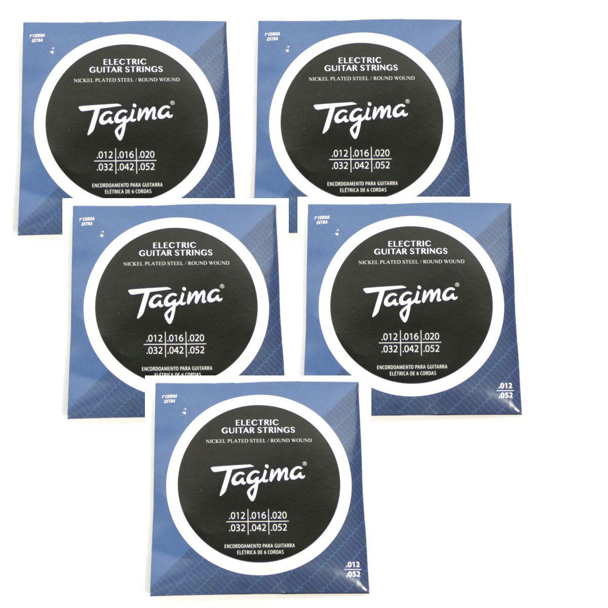 Encordoamento para Guitarra 012 Tagima - TGT-012 - 05 Unidades
