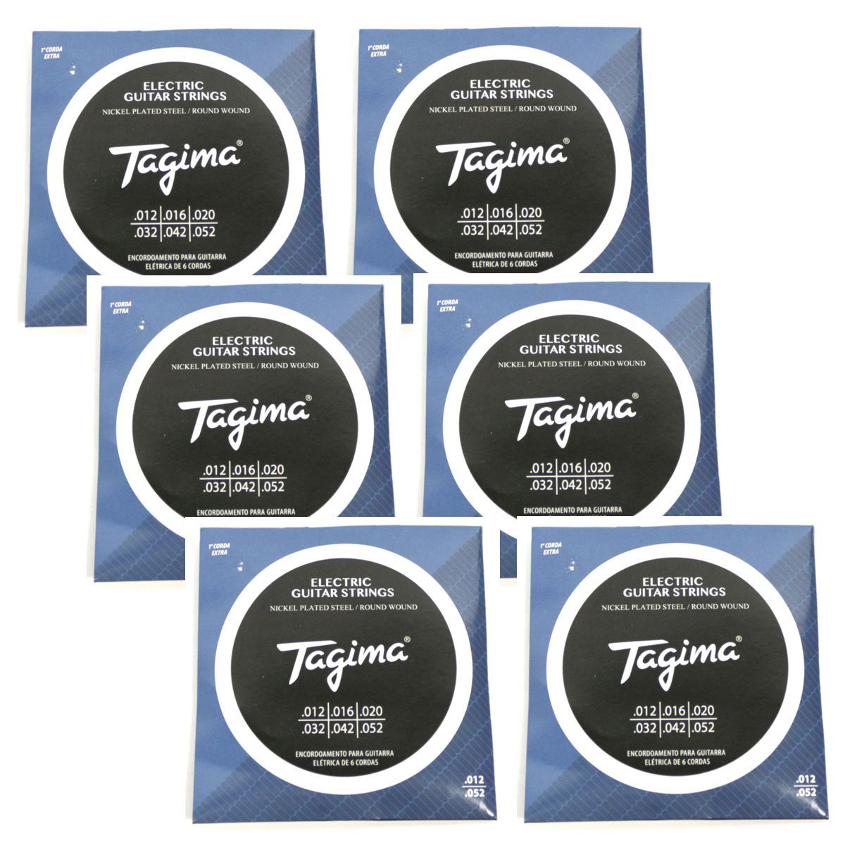 Encordoamento para Guitarra 012 Tagima - TGT-012 - 06 Unidades