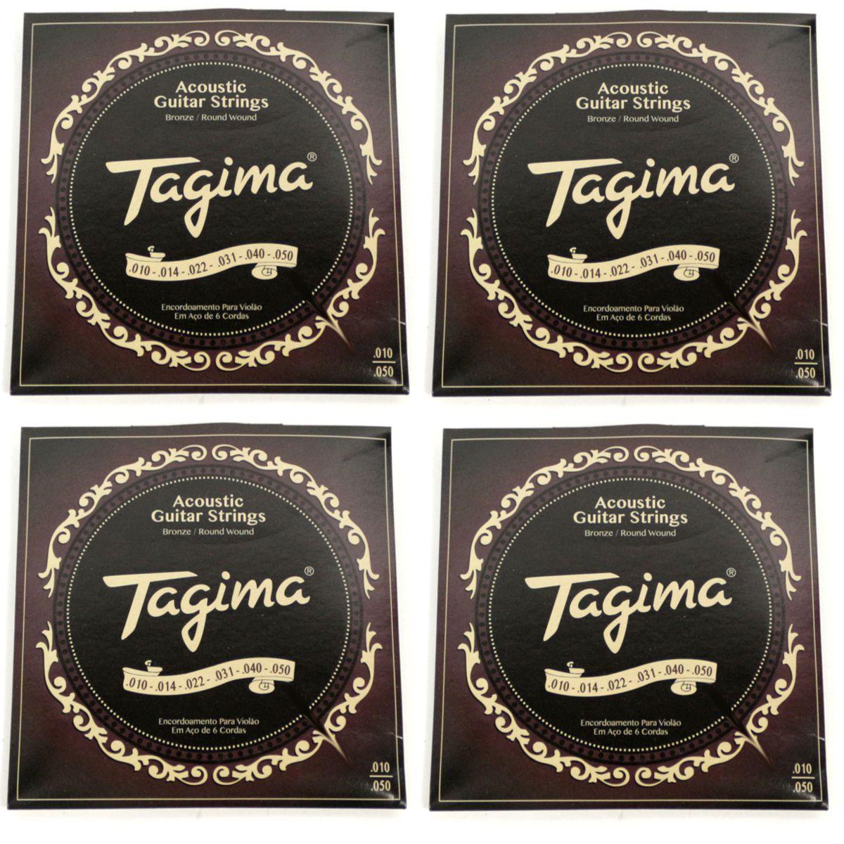 Encordoamento Tagima para Violão AÇO 010 Cordas de AÇO TVA-010 - 04 Unidades