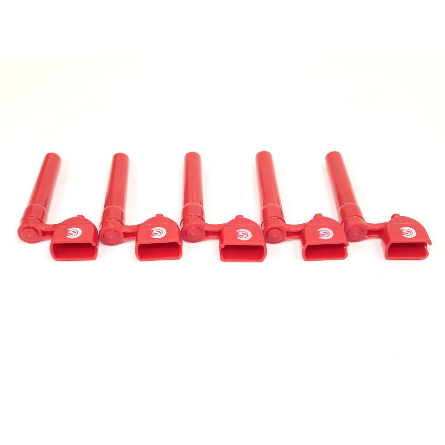 Enrolador de Cordas e Saca Pinos Custom Sound - Vermelho - 05 Unidades
