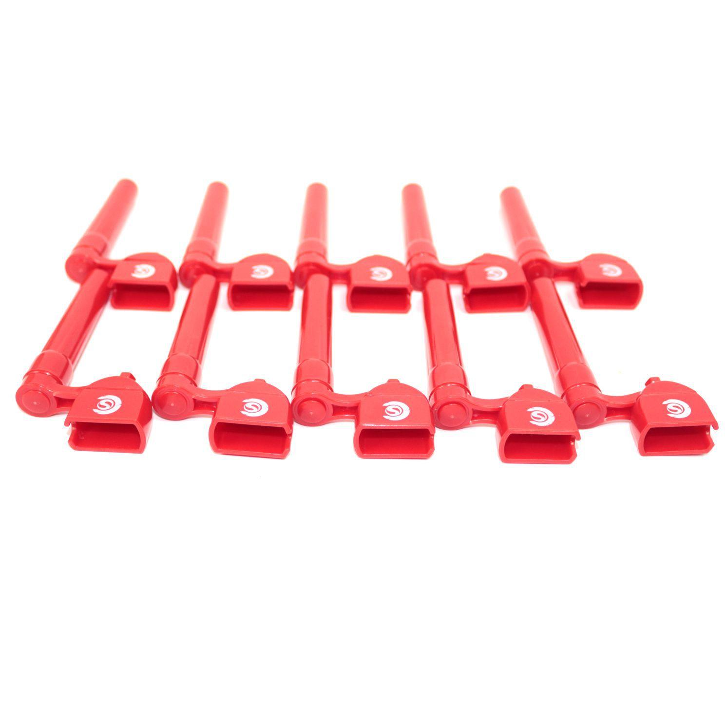 Enrolador de Cordas e Saca Pinos Custom Sound - Vermelho - 10 Unidades