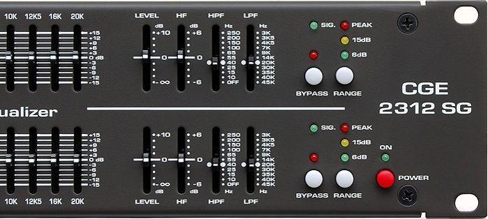 Equalizador Gráfico Wattson Ciclotron CGE 2312 SG de 2 canais de 31 bandas