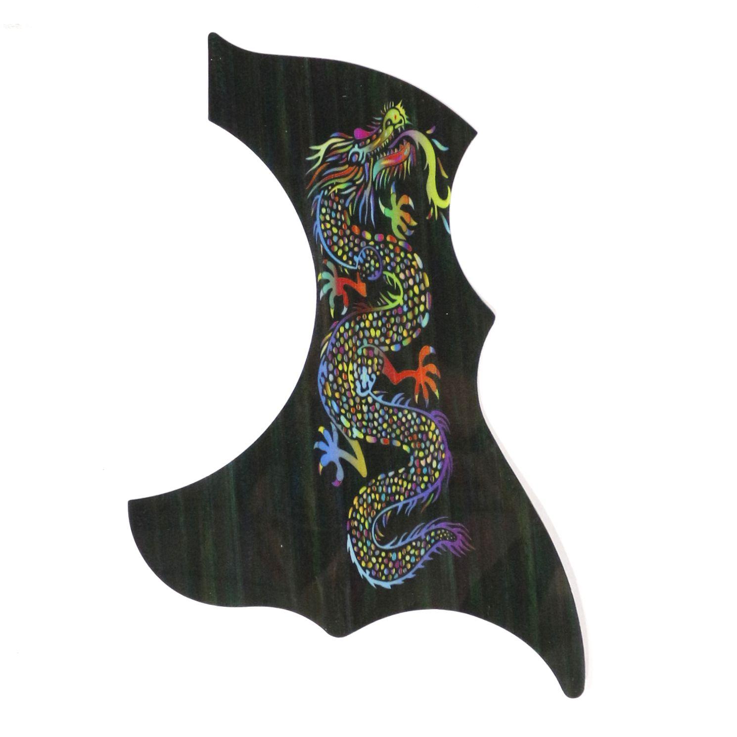 Escudo para Violão Ronsani Preto Dragão - Hook
