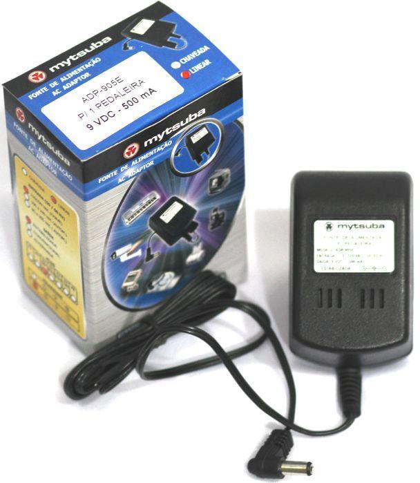 Fonte para Pedal Pedaleira 9VDC 500MA P4 Interno Negativo - ADP-905E