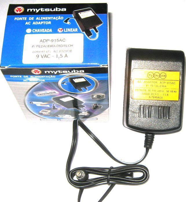 Fonte para Pedaleira Digitech 9 VAC Compativel AO PS0913B - ADP-915AC