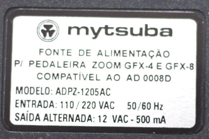 Fonte para Pedaleira Zoom GFX 4 GFX 8  VAC 500MA Compatível AO AD 0008D - ADPZ-1205AC