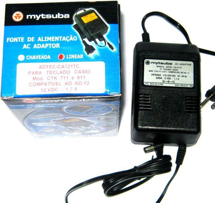 Fonte para Teclado Casio CTK 711 À 811 da Marca Mytsuba - Compatível com AD-12 - ADTEC-CA1217C