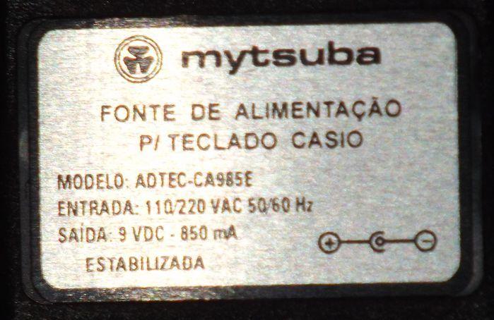 Fonte para Teclado Casio da Marca Mytsuba - Compatível com AD-5 - ADTEC-CA985E