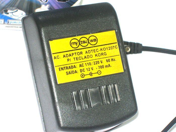 Fonte para Teclado KORG - 12VDC 700 MA - ADTEC-KO1207C
