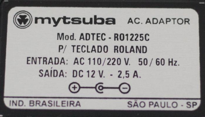 Fonte para Teclado Roland - 12VDC 2,5 a - ADTEC-RO1225C