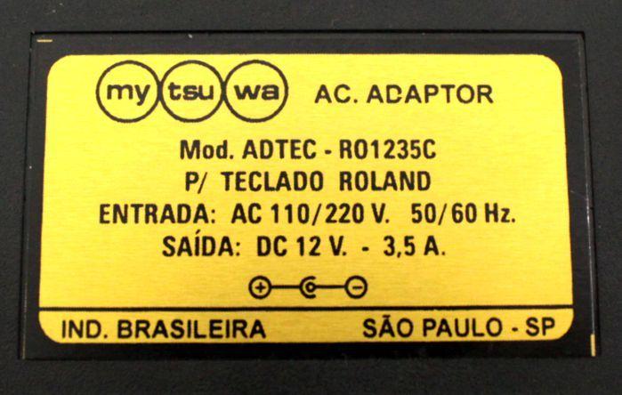 Fonte para Teclado Roland - 12VDC 3,5 a - ADTEC-RO1235C