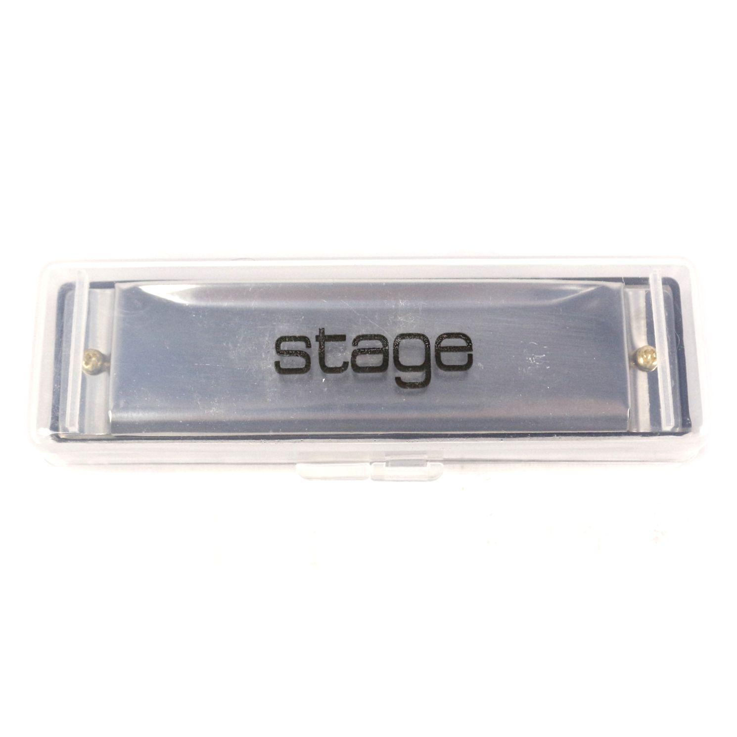 Gaita de Boca Stage Harmônica  em DÓ(C) com Case - SH20