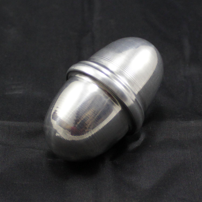Ganzá Spanking Aluminio Ovinho Chocalho Pequeno 70