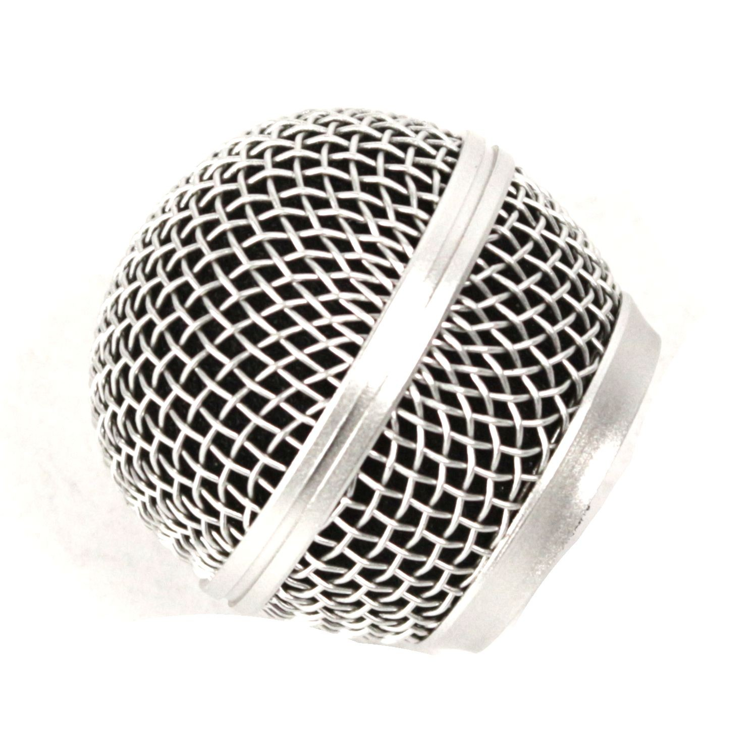 Globo de Microfone Prateado para Shure, LYCO, Tagima