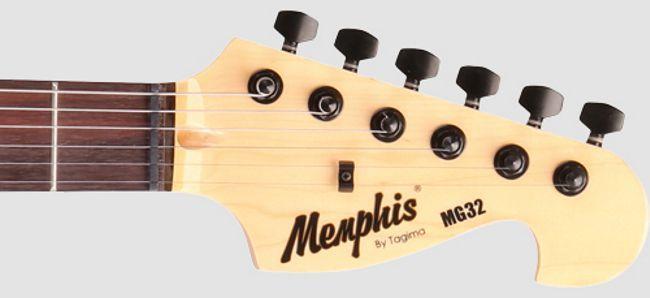 Guitarra Memphis BY Tagima Strato Preta com Escudo Preto MG-32 BK