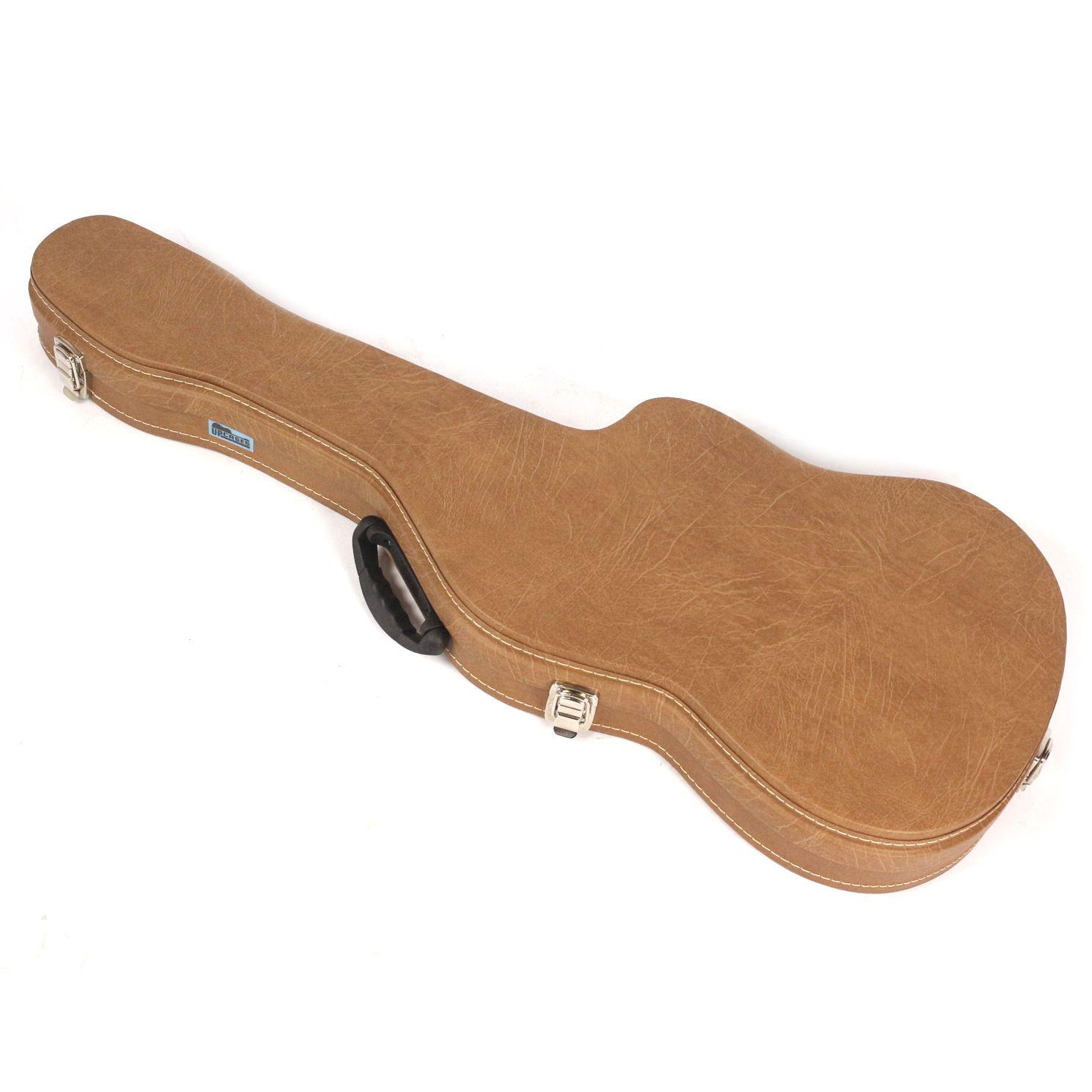 Hard Case para Guitarra NO Formato em Courvin Marrom - Upcases