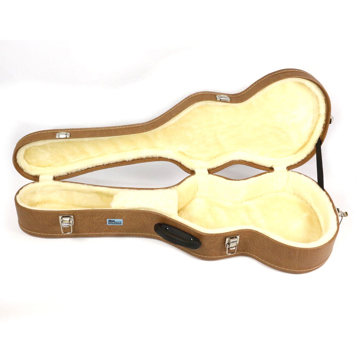 Hard Case para Viola Caipira Cinturada em Courvin Marrom - Upcases