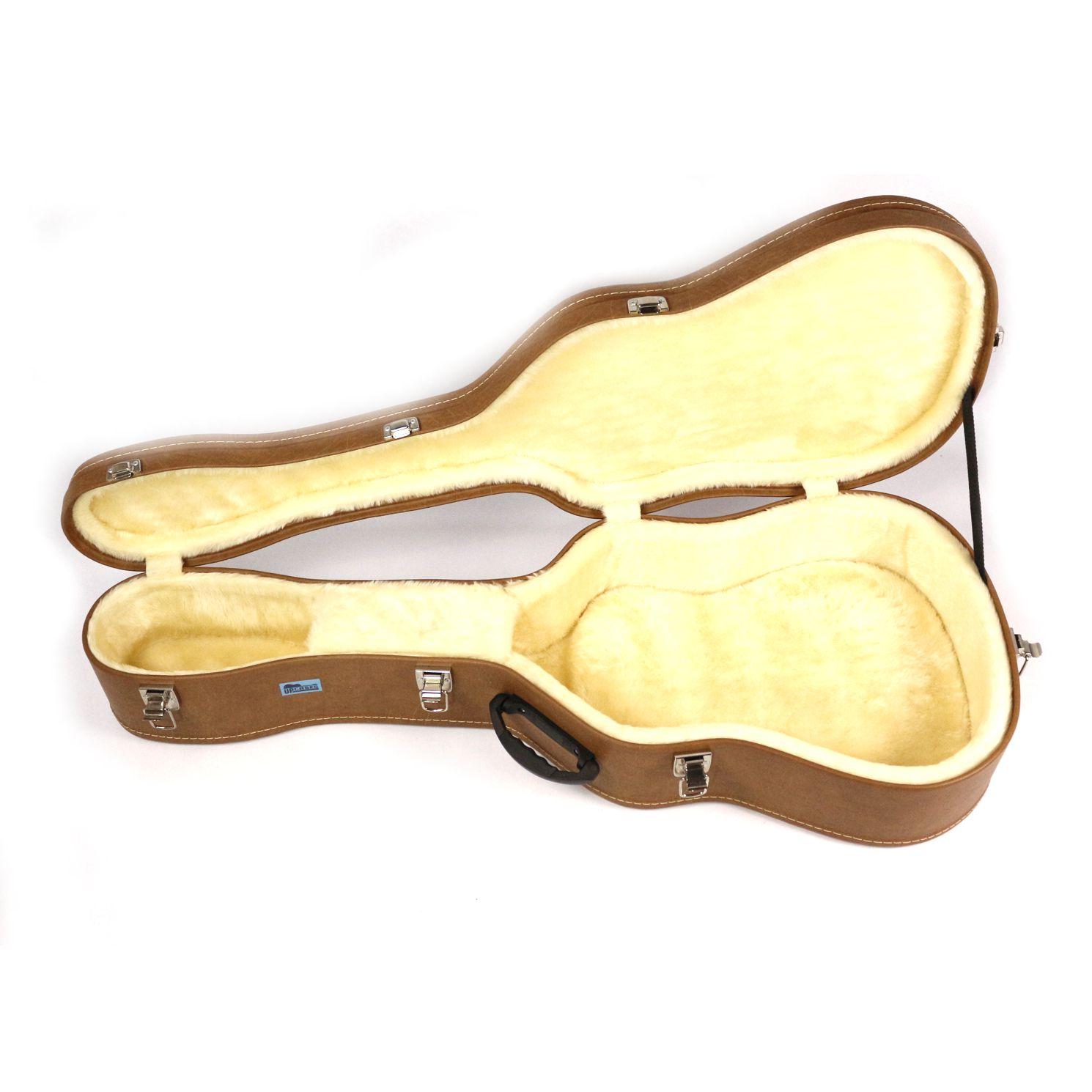 Hard Case para Violão FOLK 12 Cordas em Curvin Marrom  - Upcases