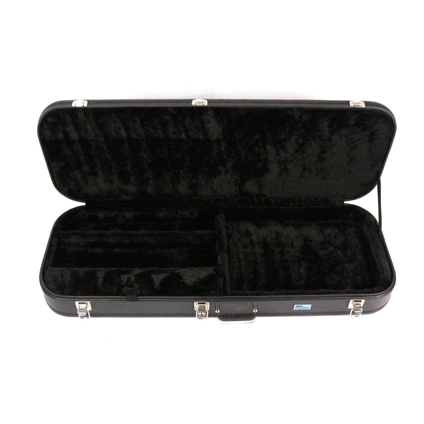 Hard Case Retangular para Guitarra em Courvin Preto - Upcases