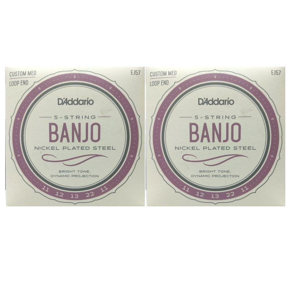 Jogo de Cordas para Banjo 5 Cordas - Encordoamento Daddario EJ57 - 02 Jogos