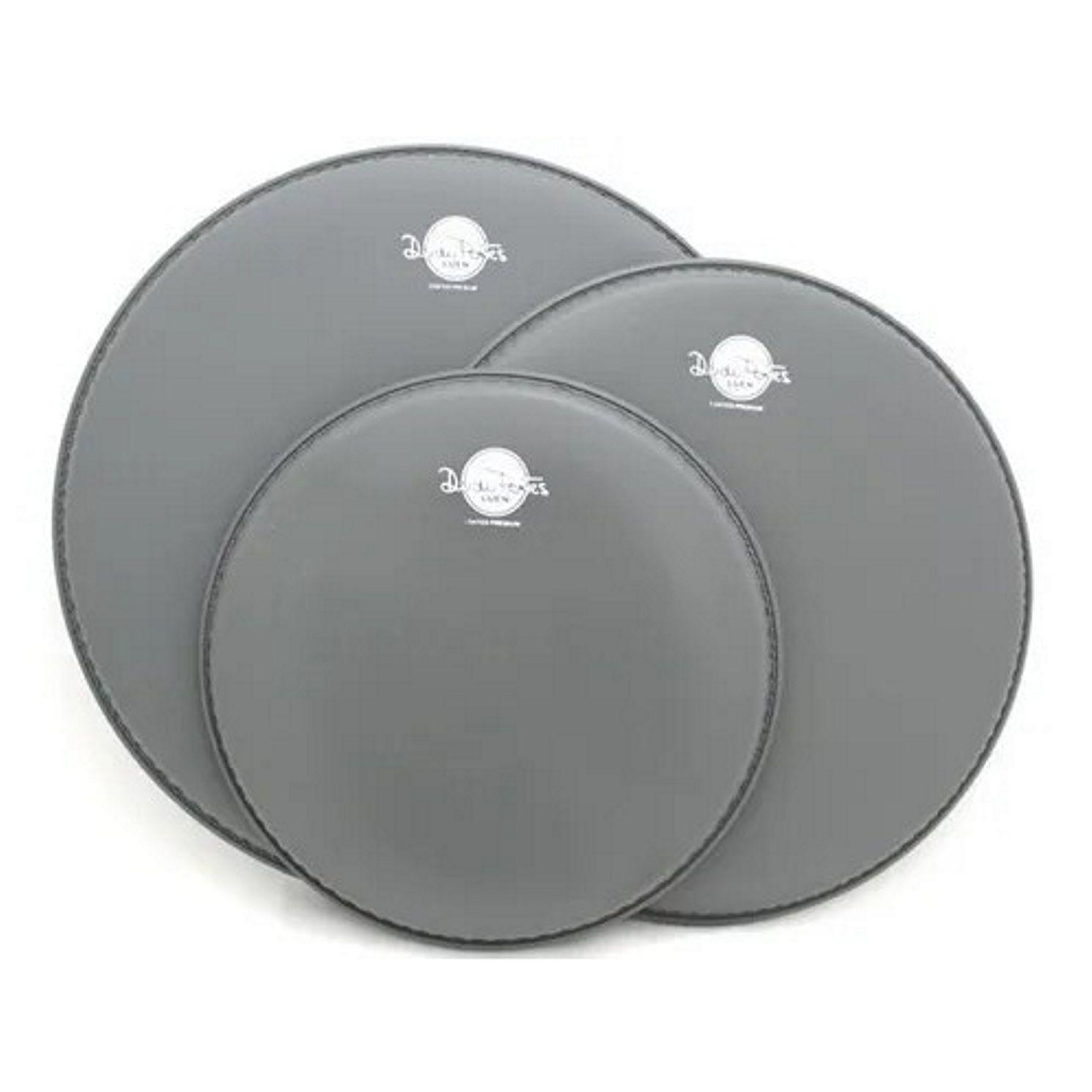 Jogo de Pele de Bateria 10 12 14 Coated Premium Dudu Portes Porosa - Luen