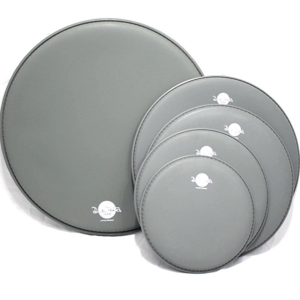 Jogo de Pele de Bateria - 10 - 12 - 16 - 22 - 14 - Coated Premium - Dudu Portes - Porosa - Luen