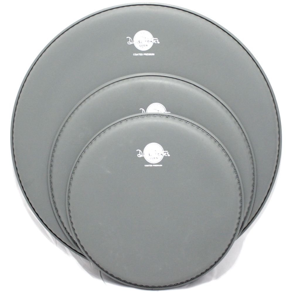 Jogo de Pele de Bateria - 10 - 12 - 16 - Coated Premium - Dudu Portes - Porosa - Luen