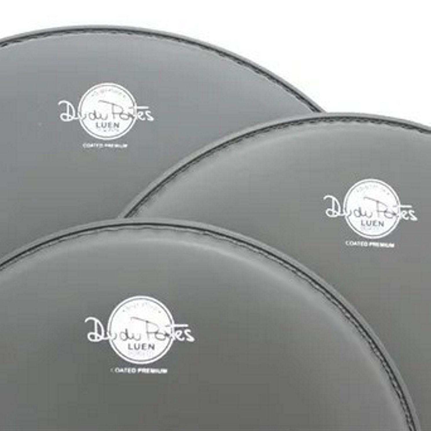 Jogo de Pele de Bateria - 12 - 13 - 16 - Coated Premium - Dudu Portes - Porosa - Luen