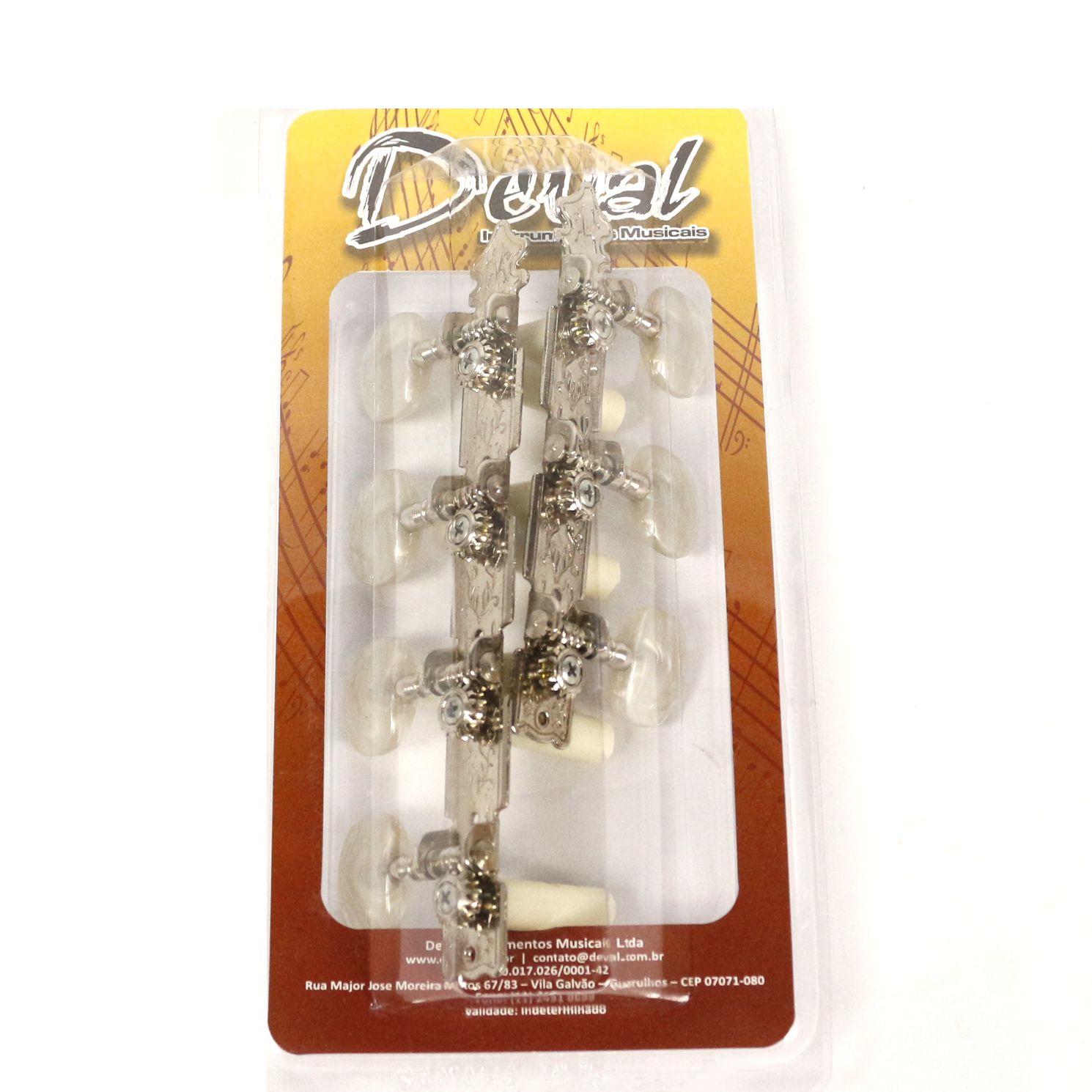 Jogo de Tarraxas Standard Pino Grosso para Violão 7 Cordas - Deval 302