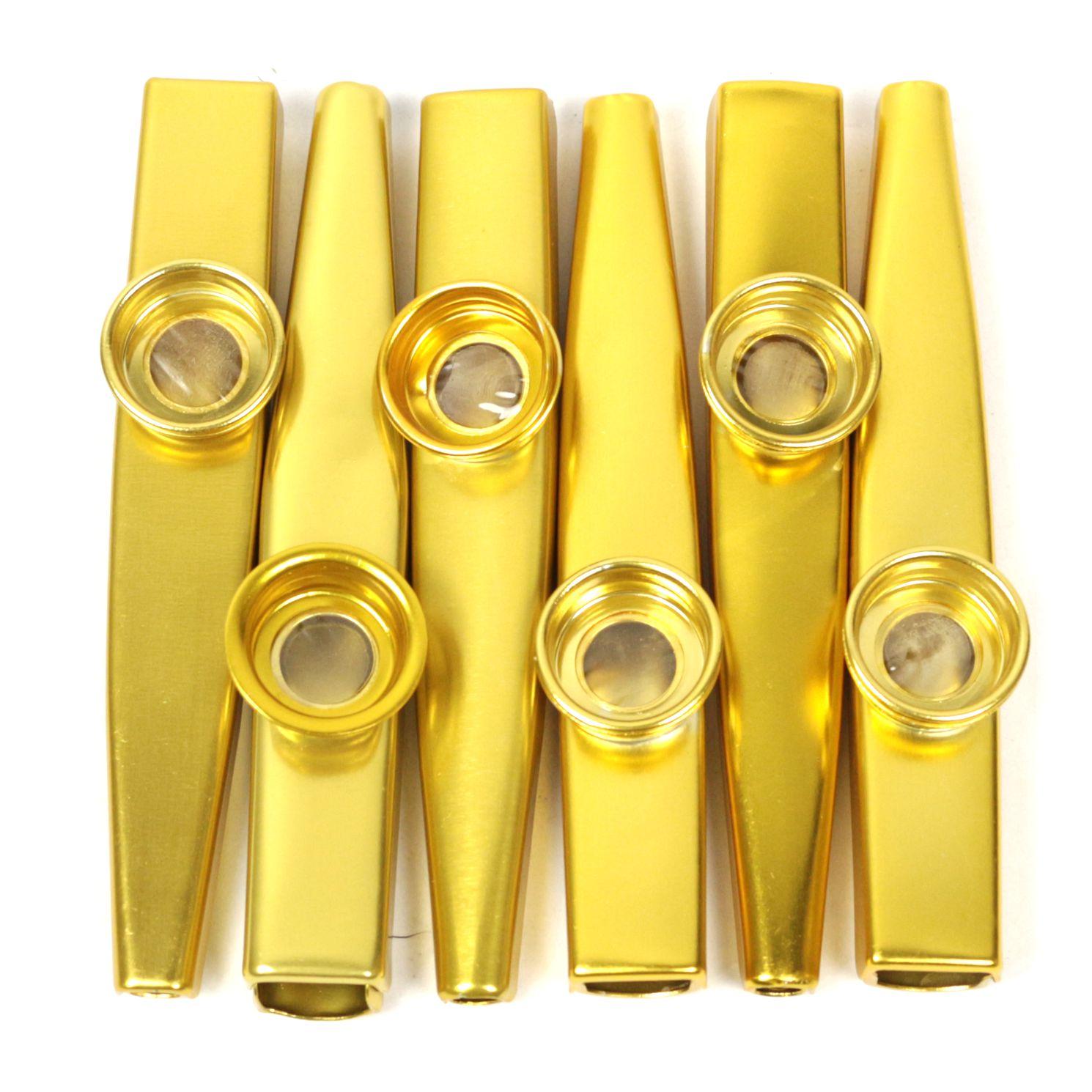 Kazoo em Metal Profissional Kazoobob GOLD Dourado - 06 Unidades