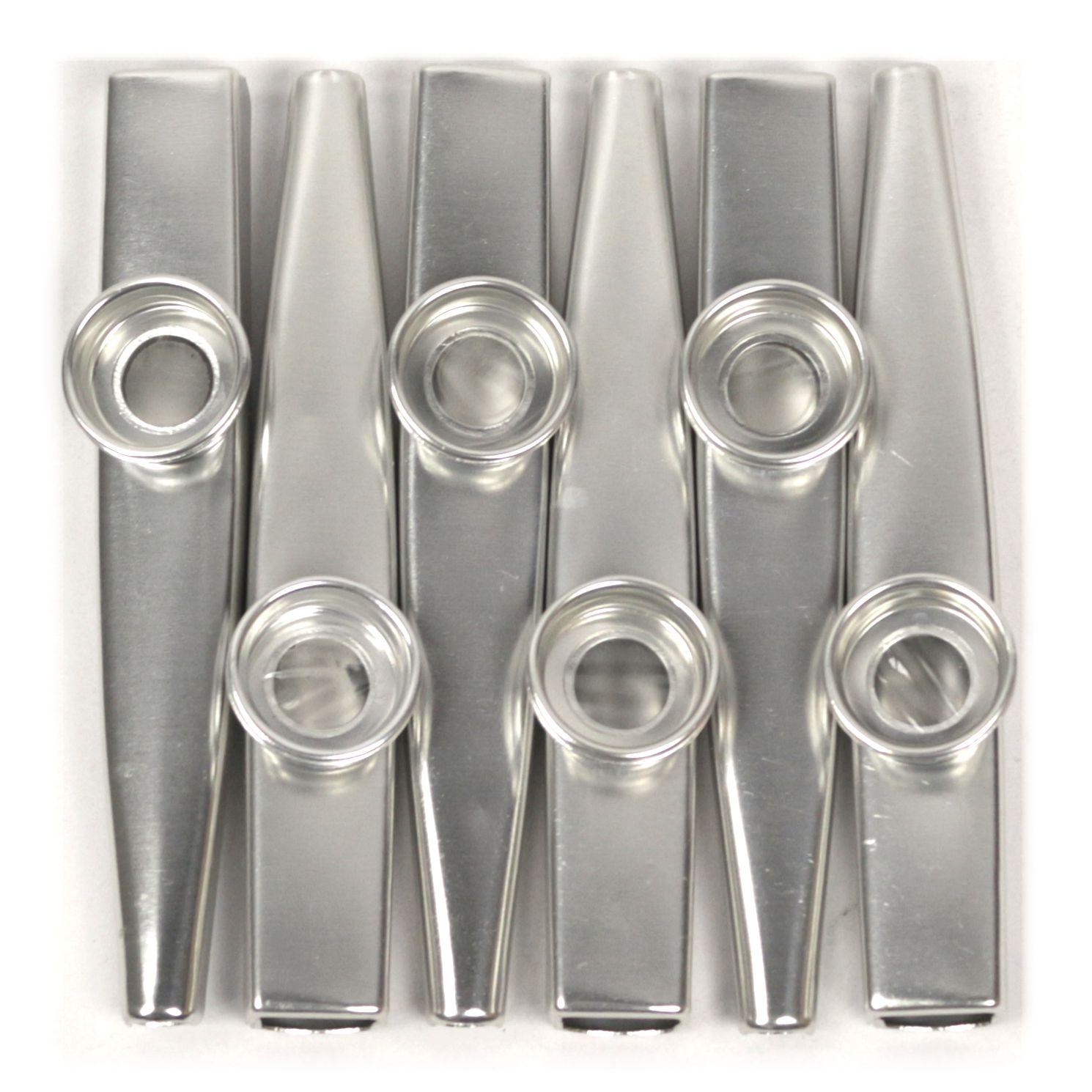 Kazoo em Metal Profissional Kazoobob Silver Prata - 06 Unidades