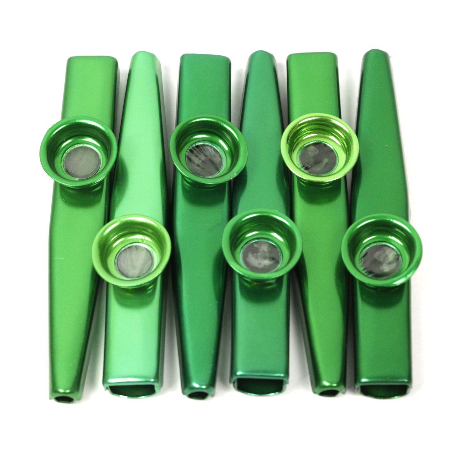 Kazoo em Metal Profissional Kazoobob Verde -06 Unidades