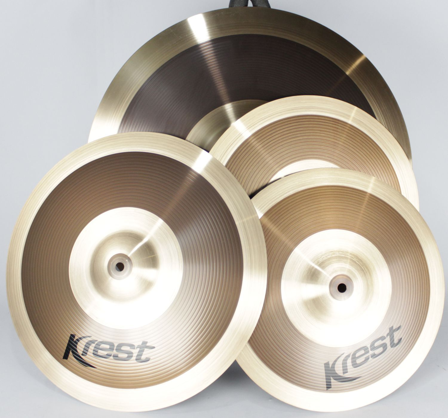 Kit de Pratos ORBIT KREST CYMBALS - Chimbal 14 - Ataque 16 - Ride 20 - Bronze B8