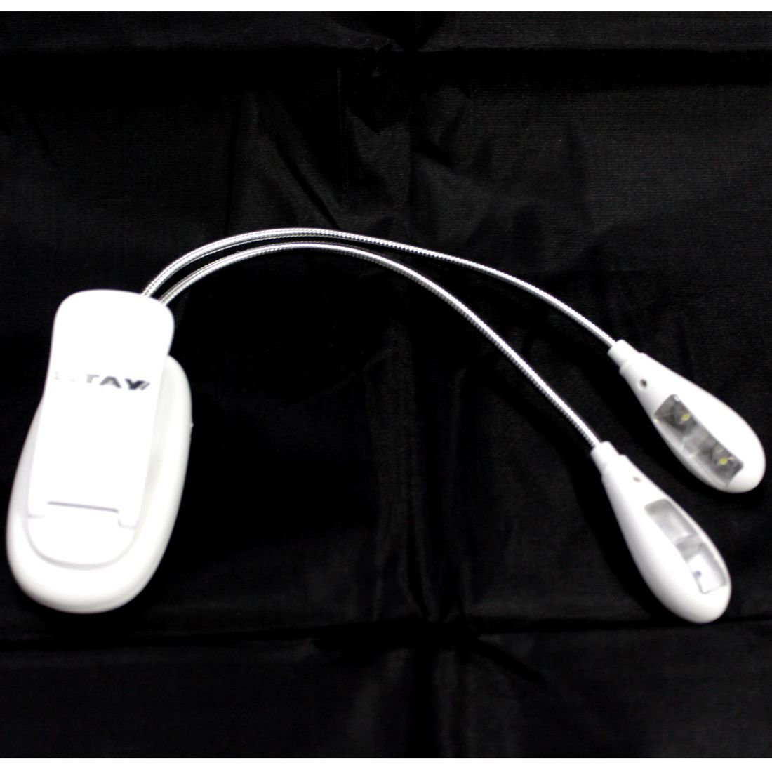 Luminária LED para Partitura com CLIP 4 LEDS e 2 ASTES Flexíveis Branca - 01 Unidade