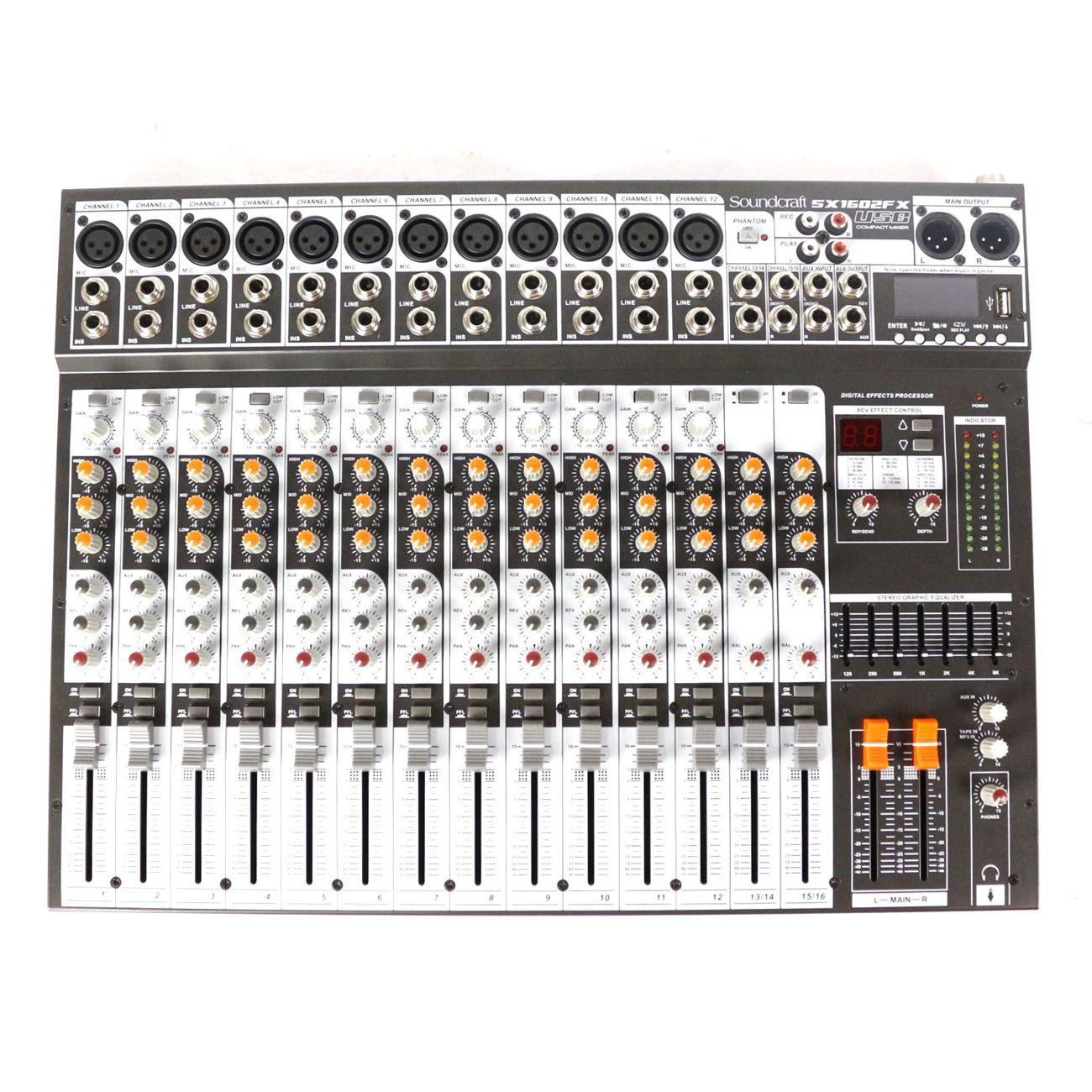 Mesa de Som com USB Harman Soundcraft 16 Canais SX1602FX