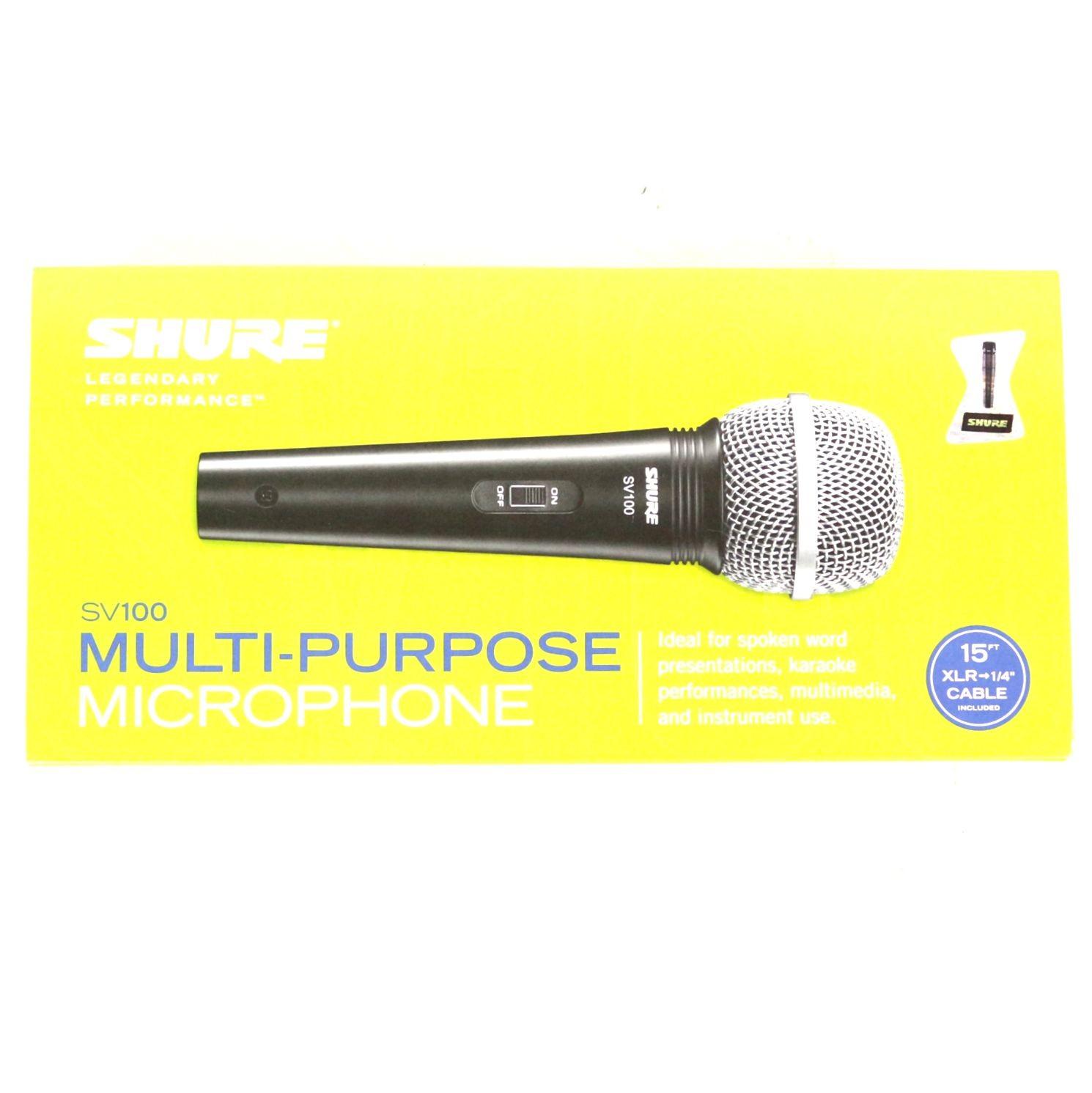 Microfone com Fio Shure Dinâmico Cardioide Vocal Unidirecional SV100