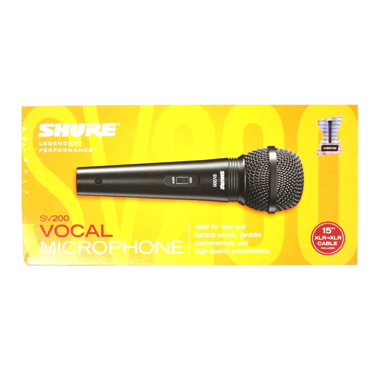 Microfone com Fio Shure Dinâmico Cardioide Vocal Unidirecional SV200