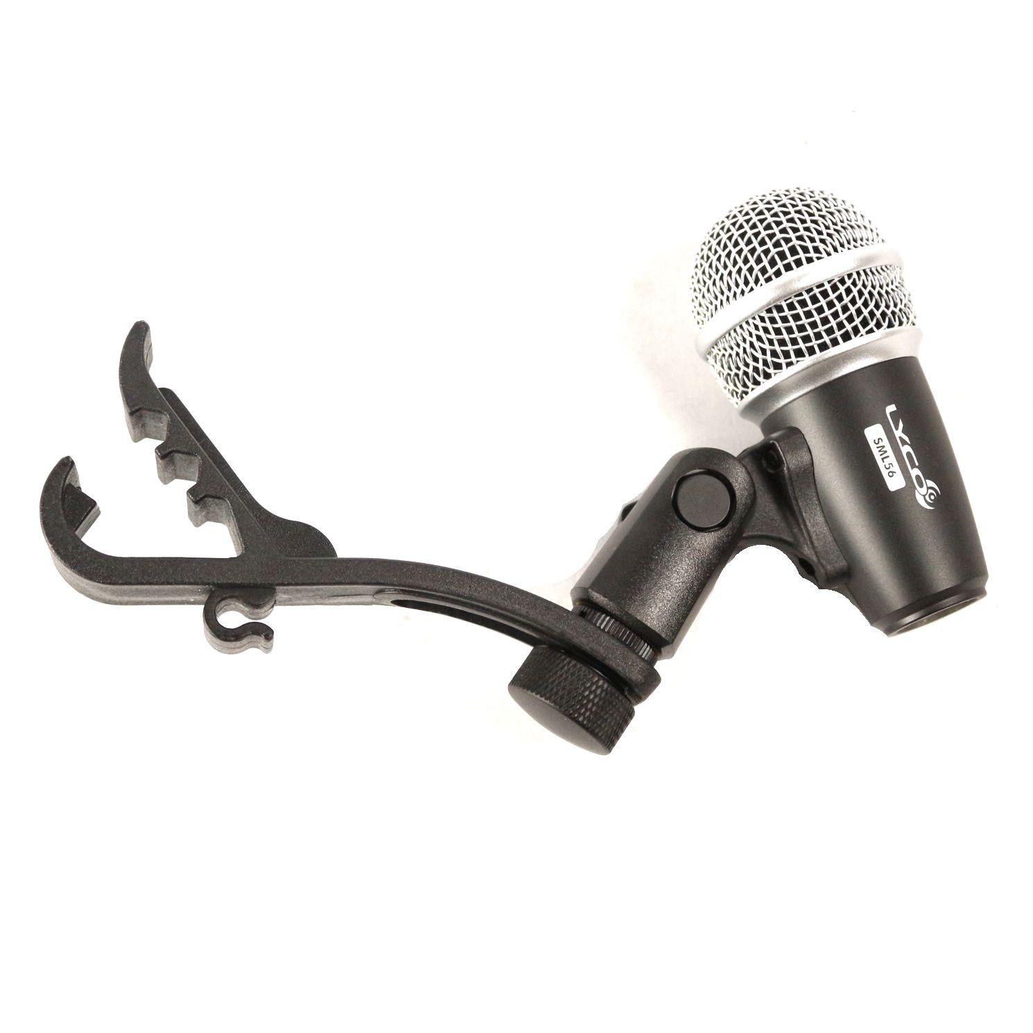 Microfone LYCO com Fio para TOM de Bateria com Garra - SML56