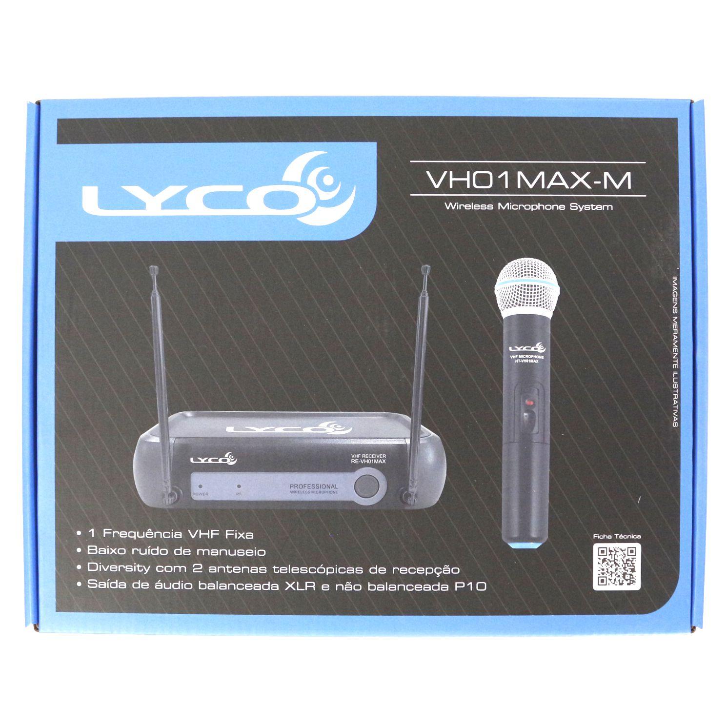 Microfone sem Fio de Mão Wireless SYSTEM LYCO - VH01MAX-M