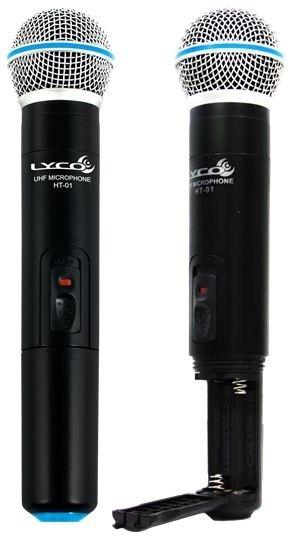 Microfone sem Fio Duplo de Mão UHF LYCO - UH02-MM