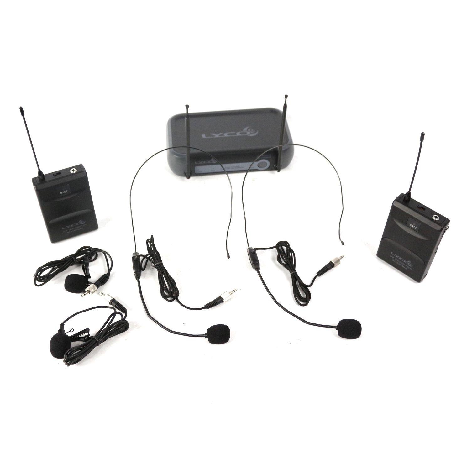 Microfone sem Fio Duplo Lapela e Auricular VHF LYCO - VH02MAXHLHL