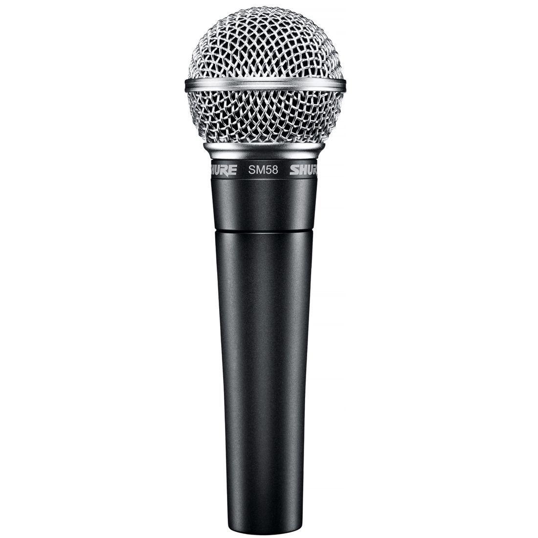 Microfone Shure Dinâmico Cardioide para VOZ Principal e Backing com BAG - SM58-LC