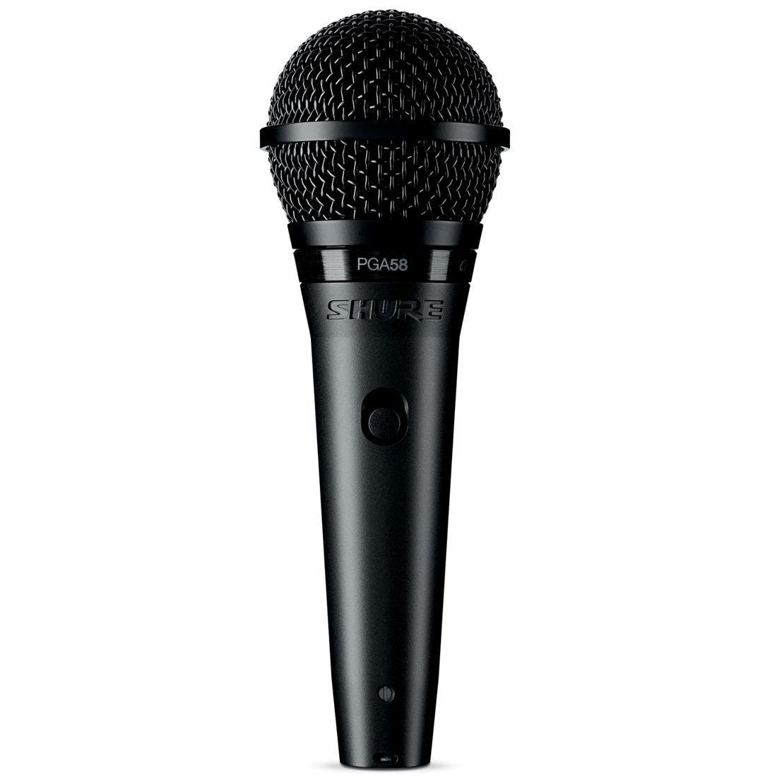 Microfone Shure Dinâmico Cardioide para VOZ Principal e Backing com Chave LIGA/DESLIGA - PGA58-LC