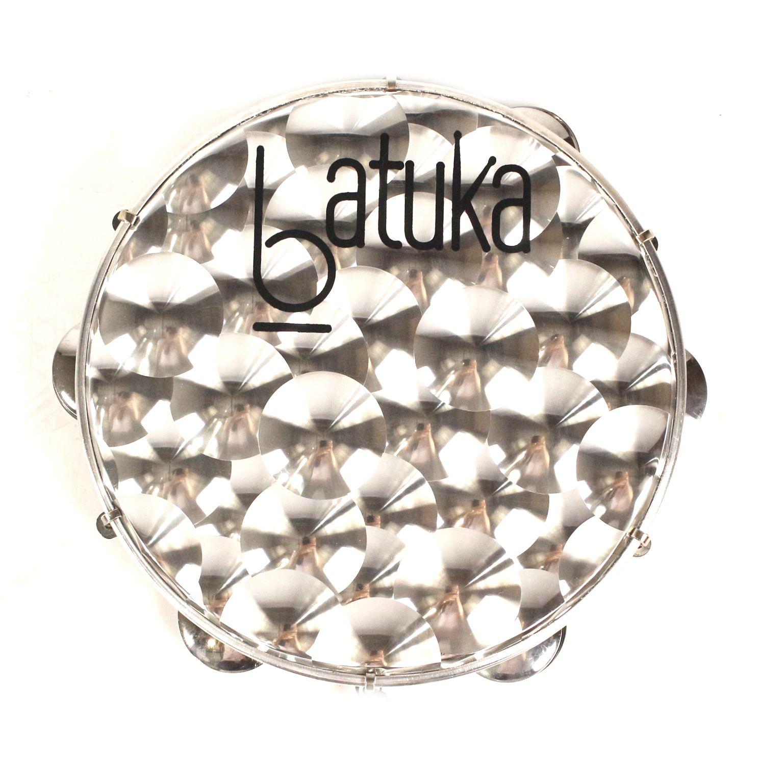 Pandeiro Batuka Luen 10 Pele 3D Holográfica Circulos  ARO ABS Preto