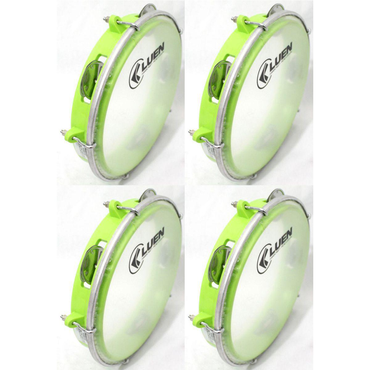 Pandeiro Luen 8 Junior ARO ABS Verde Pele Cristal - 40084VDC - Pacote com 04 Unidades